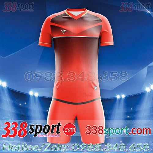 Áo bóng đá không logo màu đỏ