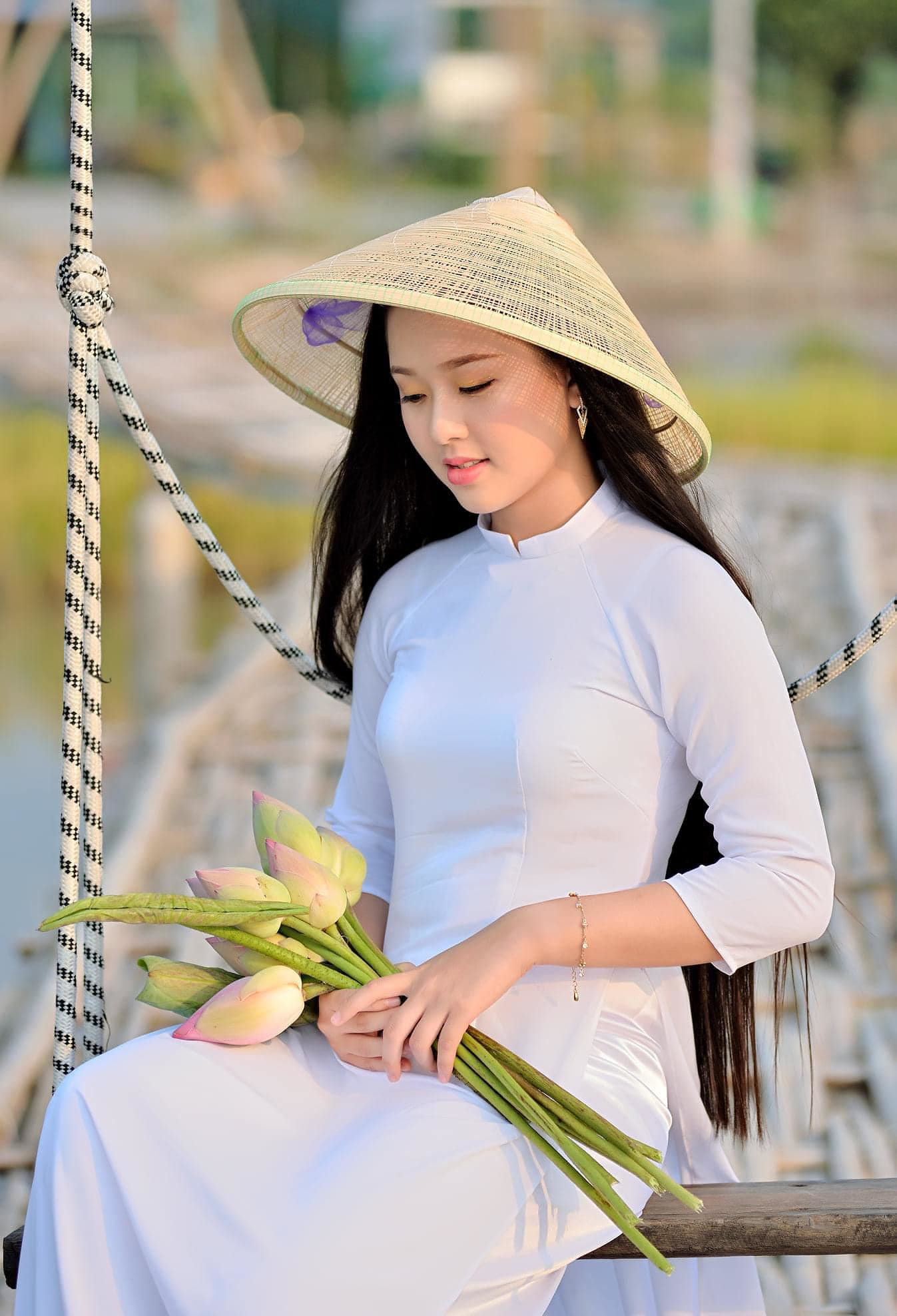 Tuyển tập girl xinh gái đẹp Việt Nam mặc áo dài đẹp mê hồn #57 - 22
