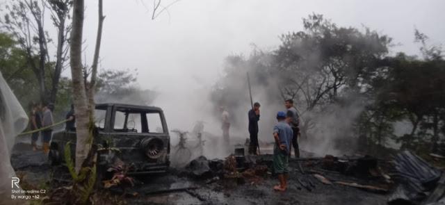 Satu Rumah di Dusun Peregen Kampung Kute Keeamil Kecamatan Linge Hangus Terbakar