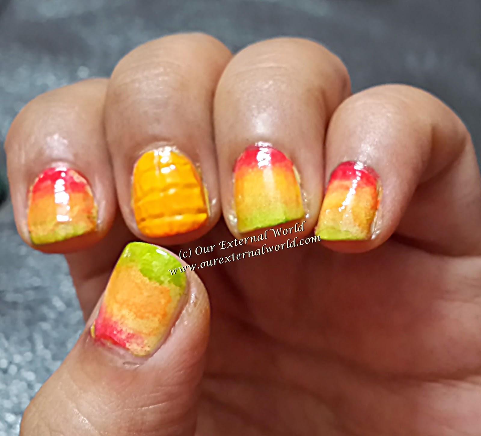 Summer Nail Art - Mango Nails Tutorial