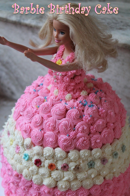 Doll Cake Images With Name : YUMMY TUMMY: Barbie Birthday Cake Recipe - How to Make a ...