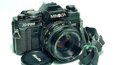 Minolta X-700 (Black) Body #742, Minolta MD Rokkor 50mm 1:1.7 #368