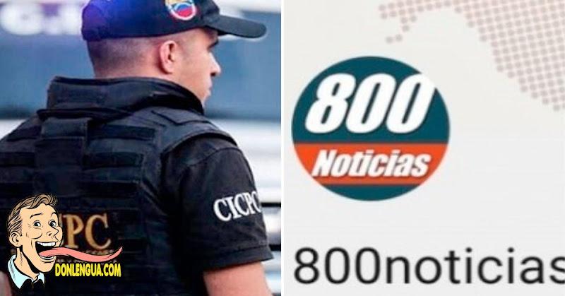 Detenida la coordinadora de la página de noticias 800 noticias