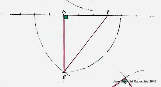 Drawing Lines With Triangle Combination : Jane griswold radocchia practical geometry drawing the