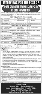 CMH Rawalpindi Jobs 2020