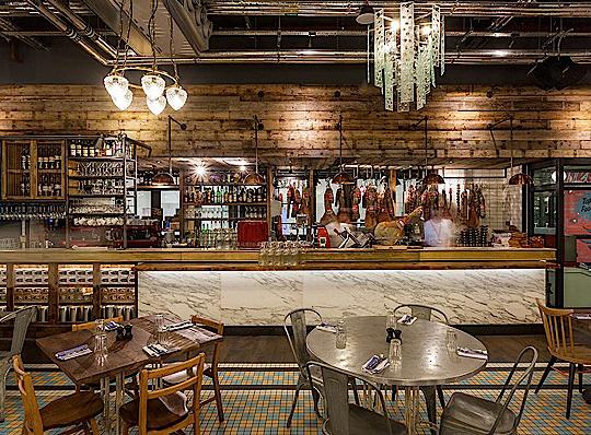 Desain Dapur Restoran Cepat Saji Bergaya Rustic
