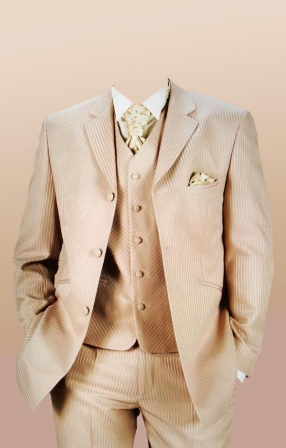 Download PSD men's suit uniform in beige