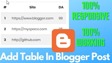 How to Add Responsive Table in Blogger Post