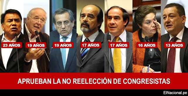 Aprueban la no reelección de congresistas en Perú, conoce los parlamentarios más antiguos que no postularan en 2021