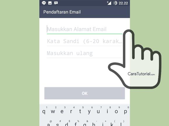 Pendaftaran Email ke akun LINE
