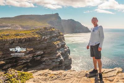 WELTREISE von Arkadij Schell am Cape Point in Kapstadt, Südafrika.