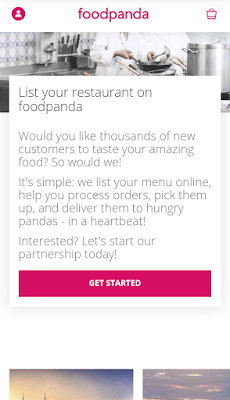 Get start foodpanda