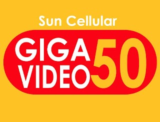 Sun Giga Video 50 – 1GB Data + 1GB for Video and Unlitexts to All for 3 Days