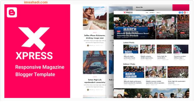 XPress Blogger Template Magazine Keren