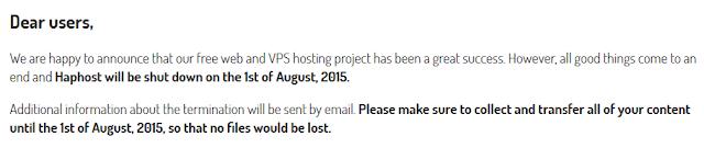 Haphost Shutdown 1 Agustus 2015