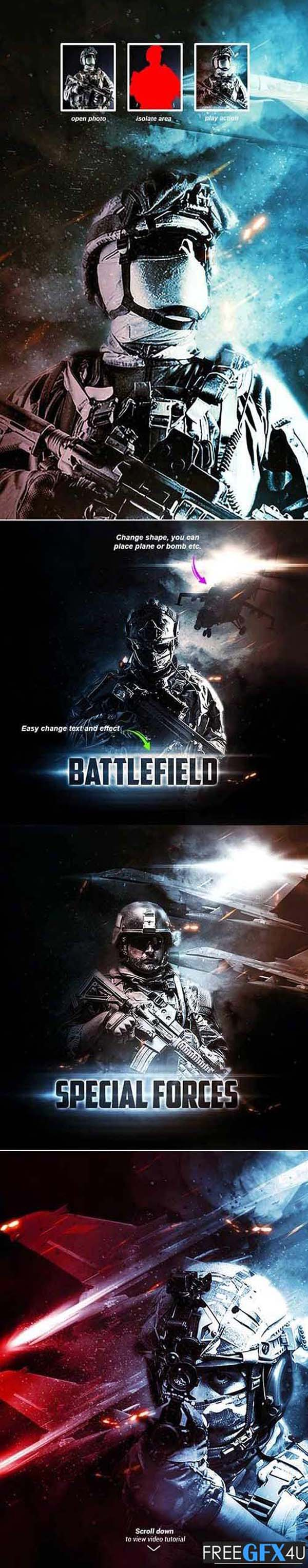 Battlefield - Photoshop Action