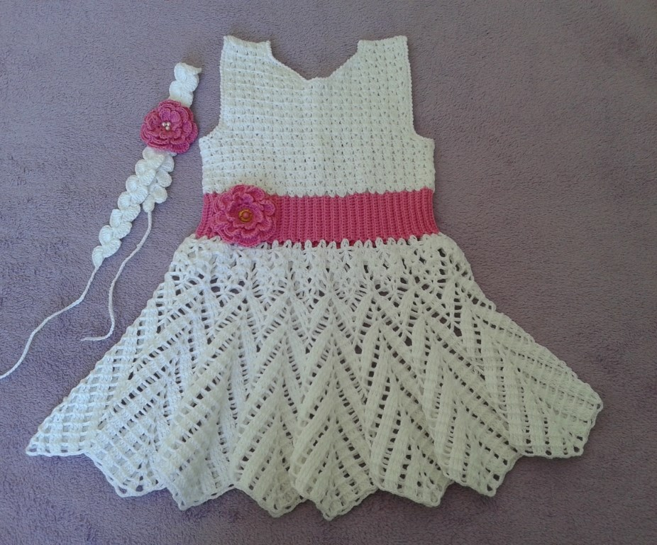 Populares Croche da Moda : vestido de crochê infantil NK07