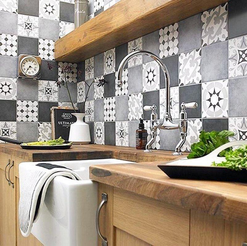 motif keramik dinding dapur moderen