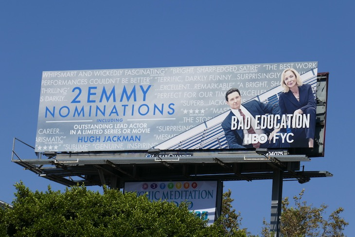 Bad Education Emmy nominee billboard