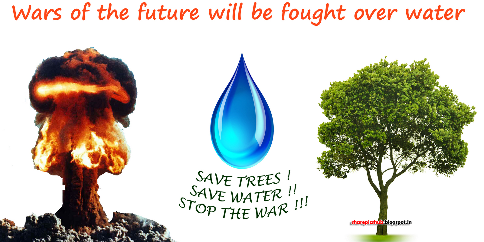 Five slogans to save water