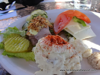 open-face sandwiches at Greenhouse Cafe in Solvang, CA