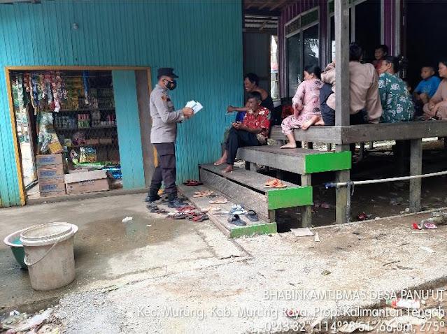 Polsek Murung Sosialisasikan Prokes Dan Bagikan Masker Ke Warga Desa Panu'ut