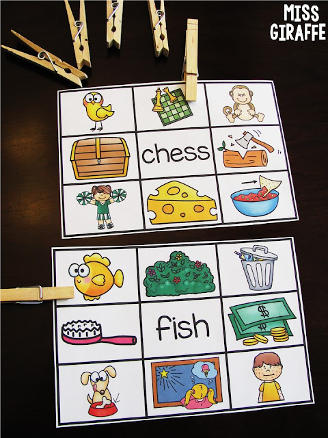 Digraphs center clip cards are so much fun! Lots of great kindergarten digraphs ideas on this page!