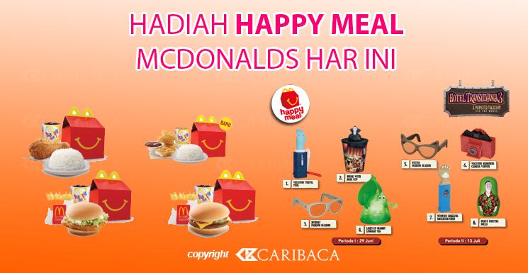 Hadiah Paket Happy Meal McDonalds Hari Ini