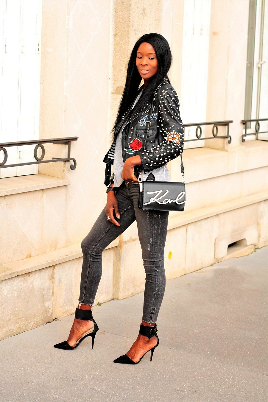 inspiration-look-fashion-veste-cuir-sac-lagerfeld-jeans-destroy-blog-mode