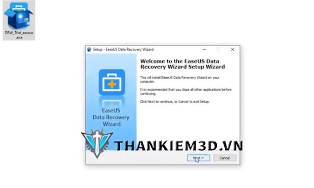 huong dan cai dat EaseUS Data Recovery