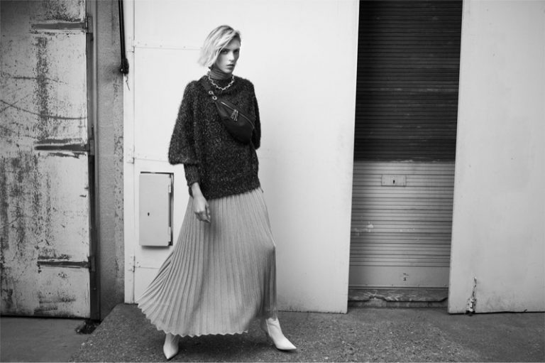 Anja Rubik Models Zara's Chic Fall 2018 Sweaters
