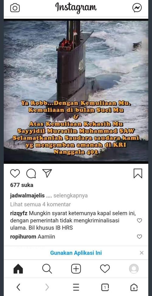 Pria ini Sebut KRI 402 Ditemukan jika HRS Tak Dikriminalisasi, Netizen: Bukannya Tuhan Marah karena Nyembah Baliho?