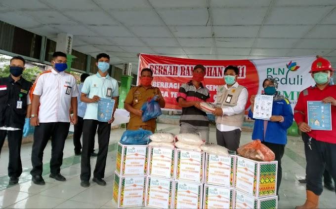 BMH Bareng PLN Peduli Berbagi Sembako Untuk Warga Terdampak Pandemi