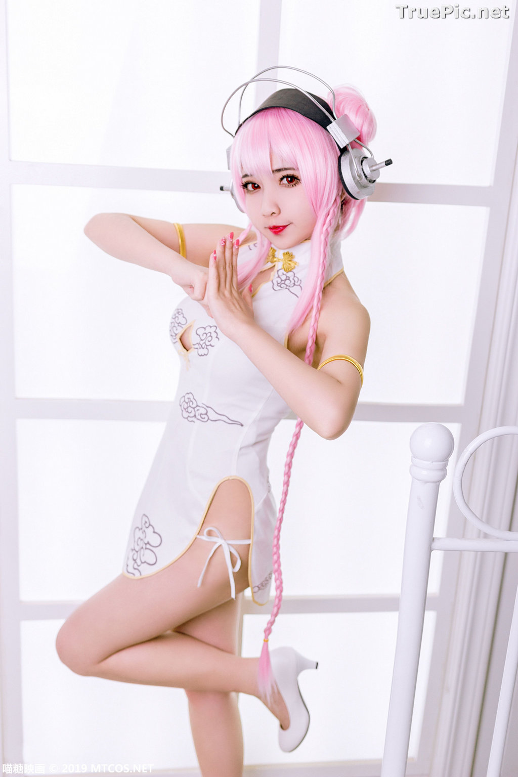 Image [MTCos] 喵糖映画 Vol.050 - Chinese Cute Model - Lovely Pink-haired - TruePic.net - Picture-8