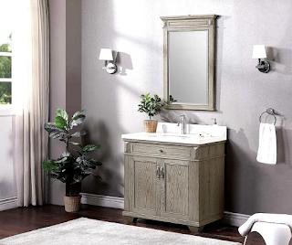 dark grey painted bathroom cabinets