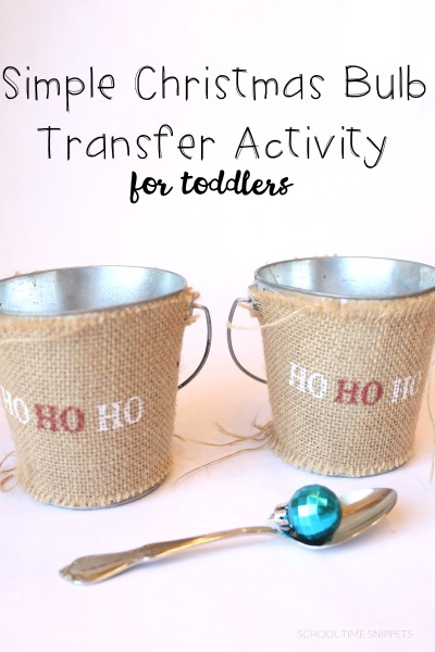 christmas toddler activity