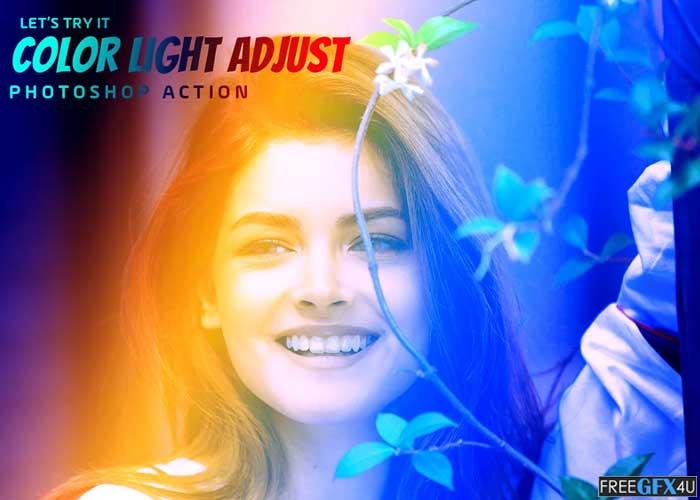 Color Light Adjust Photoshop Action
