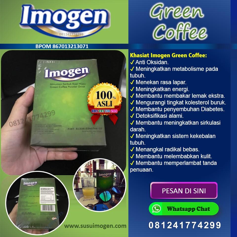 cara minum imogen green coffee; efek samping; imogen