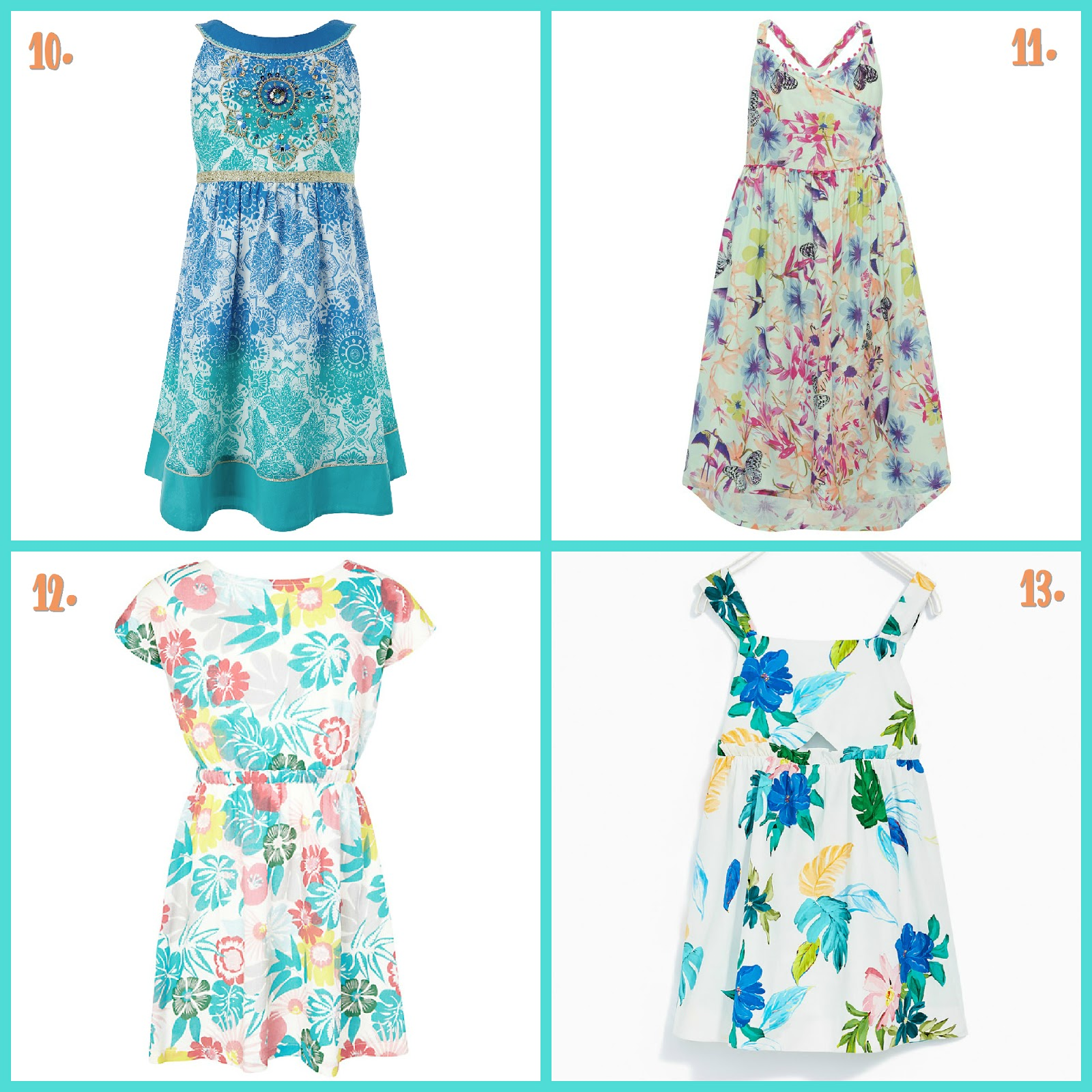 Our Cherry Tree: Party Planning - Tropical Party Outfits for Girls