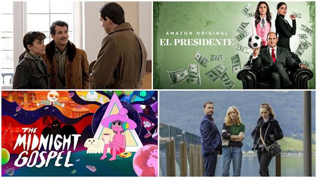 Reseña 'El Presidente' (Fifa Gate), reseña 'The Midnight Gospel', crítica de 'El Nido' de Filmin, review 4x04 de 'El Ministerio del tiempo'