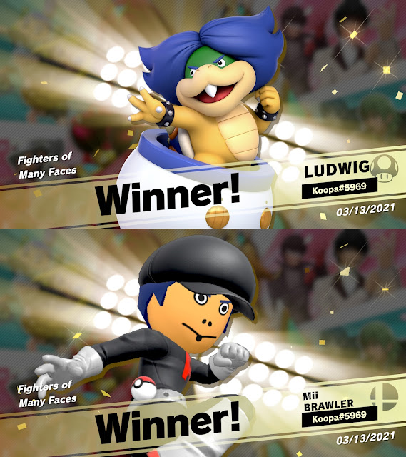 Super Smash Bros. Ultimate Fighters of Many Faces event tourney Ludwig Von Koopa