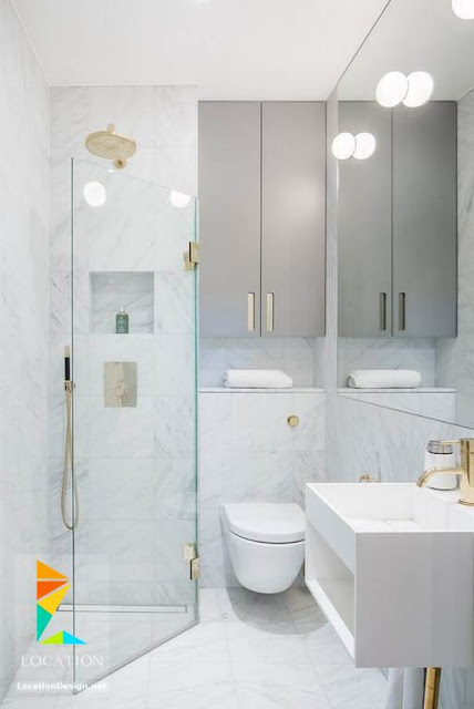 اطقم الحمام بيضاء