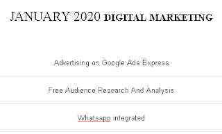 DIGITAL MARKETING - JANUARY 2020