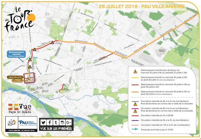 Arrivée de Tour de France Pau 2018