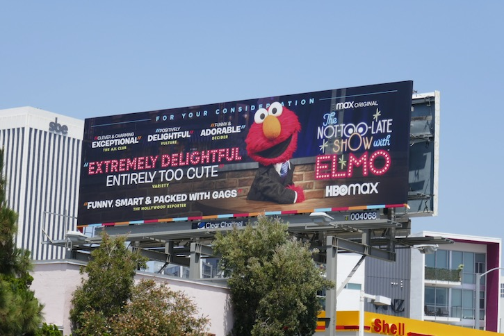 Not-Too-Late Show Elmo Emmy FYC billboard