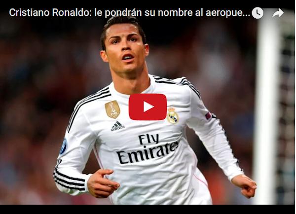 Aeropuerto cambia su nombre para llamarse Aeropuerto Cristiano Ronaldo
