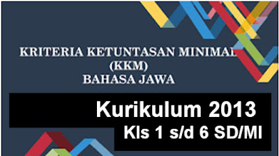 Aplikasi KKM Mulok Bahasa Jawa K13 Kelas 1 Hingga Kelas 6 SD/MI