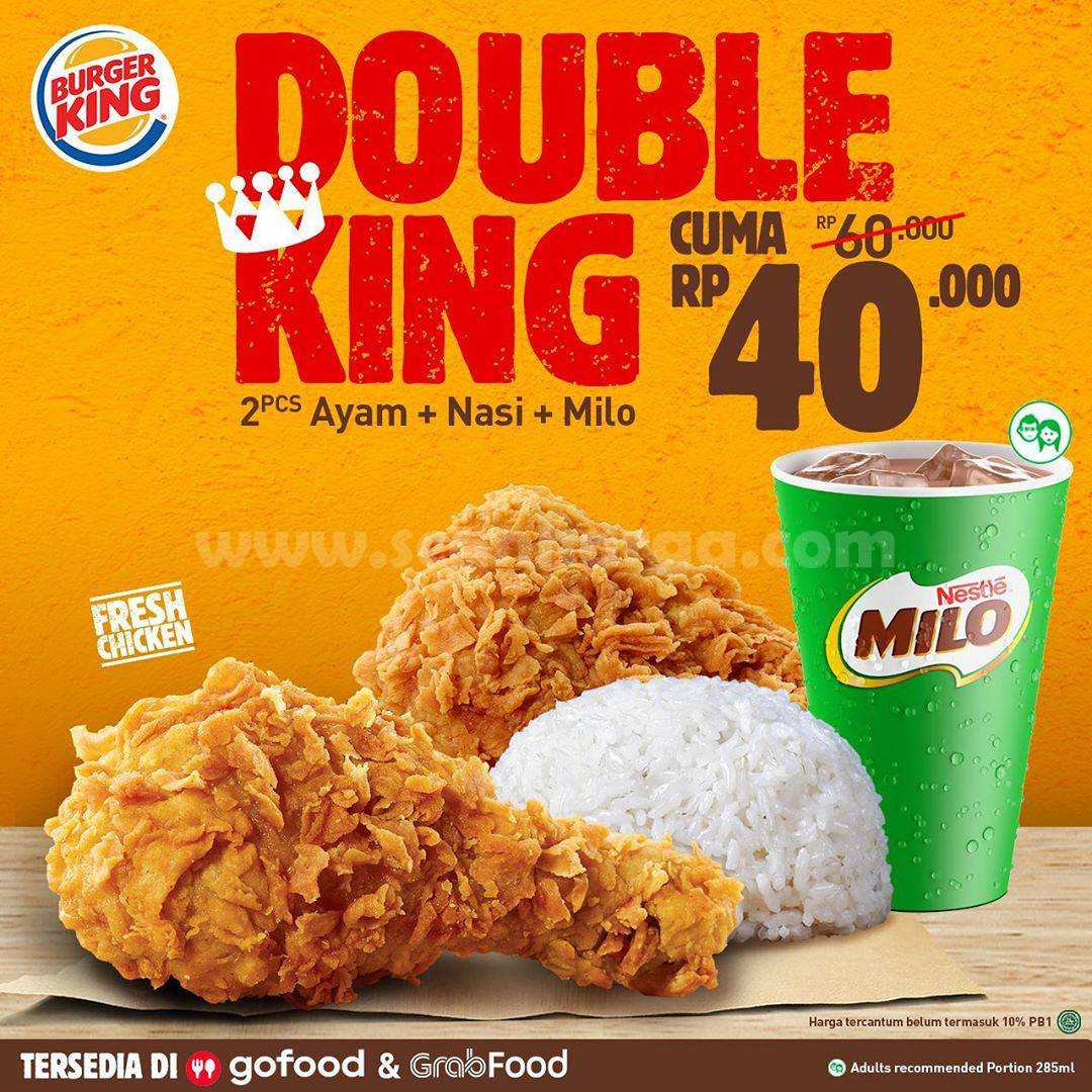 PROMO BURGER KING DOUBLE KING CUMA Rp 40.000