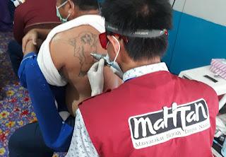 """Rutan Masamba Gelar Hapus Tatto, Didukung """"Mahtan"""" Dan Klinik Utama Alif Medika, PPA secara Gratis"""
