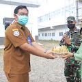 Jenguk Pasien Covid-19, Dandim Aceh Selatan Do'akan Kesembuhannya.